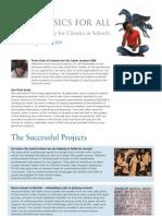 Classics For All September 2011 Newsletter