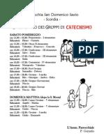 turni incontri catechismo