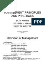 Management Principles Aand Practices