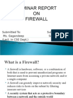 Ppt on Firewall Report