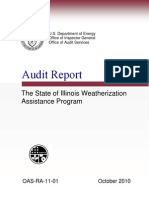 Dept. of Energy Report on Weatherization Program