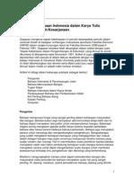 Aspek Kebahasaan Indonesia Dalam Karya Tulis Akademik Ilmiah Kesarjanaan