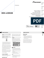 Deh-4300ub Manual en Fr It Es de Nl Ru