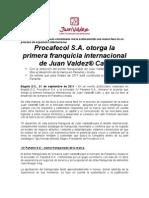 Juan Valdez - Firma Primera Franquicia Internacional