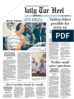 The Daily Tar Heel for September 22, 2011