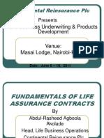 Fundamentals of Life Assurance Contracts for Kenyan Seminar