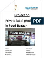 Private Label @ FOOD BAZAAR