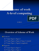 Scheme of Work a-Level Computing
