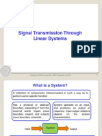 Signal Transmission Through Linear Systems
