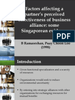 IB2 GrpB L3 Factors Affecting Partner's Perceived Effectiveness of Business Alliance -Caroline Lim
