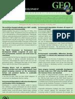 Fact Sheet 1 Environment for Development