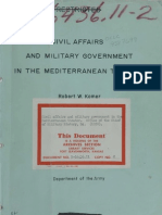Civil Affairs and Government in the Mediterranean Theater