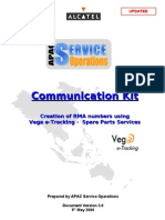 APAC Service Operations - Vega eTracking Communication Kit v3.0