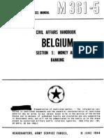 Civil Affairs Handbook Belgium Section 5