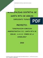 Memoria y Especificaciones Tecnicas Oficina i.e.i Santa Rita de Siguas