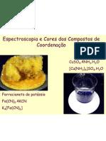 Espectroscopia e Cores Dos Complexos