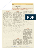 "Psalm 132 v2, ""Mighty"""