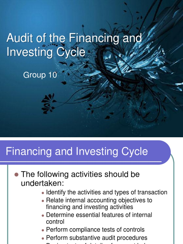 Finance and investment cycle auditing and assurance myndbook investing