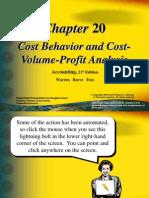 21542374 Cost Behavior and Cost Volume Profit Analysis