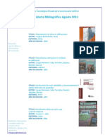 Alerta Bibliográfica Agosto 2011