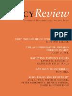 Policy Review - October & November 2011, No. 169