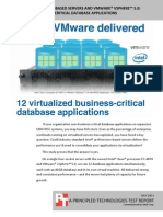 Intel + VMware Delivered 12 Virtualized Business-Critical Database Applications