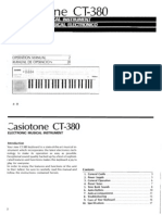 Casio Ct380 User Manual