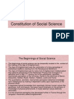 Constitution of Social Science