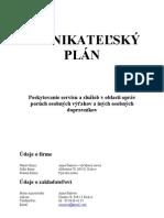 Podnikatelsky Plan Anna Sunova Vytahovy Servis 2007
