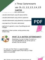 Determinants - Ch. 2.1, 2.2, 2.3, 2.4, 2.5