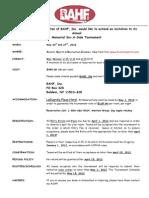 2012 BAHF Six-A-Side General Info