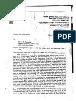 TRAI Letter to CBI on 2G Spectrum Case