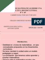 Ponencia Foro Nacional - Sucre
