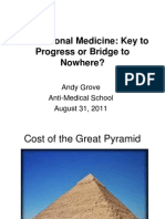 Andy Grove's Slides on Translational Medicine