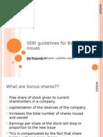 SEBI Guidelines for Bonus Issues