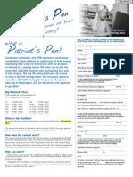 Patriots Pen 2012 Student Entry Form