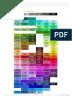 Tabela de cores seguras da web