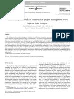 Conceptual Levels of Construction PM