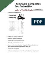 JUEVES de PRUEBA 6TH GRADE 4 Periodo - Science Social and Math