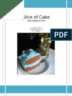 Crochet Cake Slice or Pie Pattern