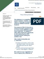 GSA Project Sharing Database