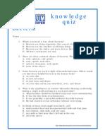 Bacteria Quiz
