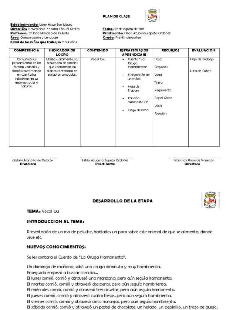 Lujoso Plantilla De Plan De Lección De Muestra Regalo - Ejemplo De ...