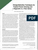 Comparación de técnicas de detección de cambios para monitoreo desmonte  y regeneración en bosques tropicales en una serie de tiempo.