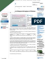 Desactivar El Bloqueo Del Equipo en Windows 7