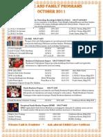 October 2011 Calendar of Events