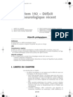 192-Deficit Neurol Recent