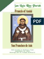 Bulletin for Mission San Luis Rey Parish Sept 25, 2011