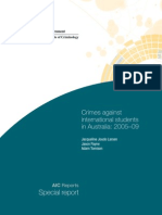 Gov't of Australia 2011, Crimes Against International Students in Australia 05-09