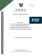 Discurso de Ollanta Humala